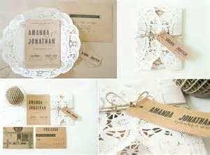 wedding invitation paper rustic wedding invitations doily kraft paper onewed