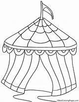 Zirkuszelt Zirkus Clowns Luftballons Bestcoloringpages Zelten Malbögen sketch template
