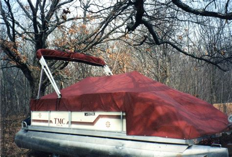 Pontoon Boat Cover With Drawstring pauls custom covers frederic wi 54837 715 653 2519