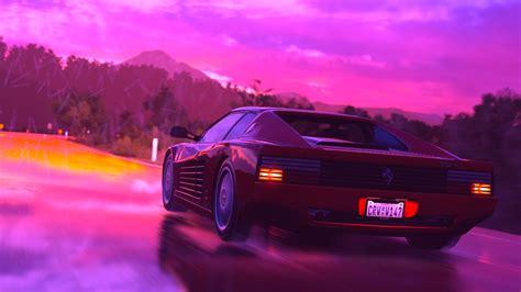 Purple cars, purple trucks, purple suv, purple classic cars, purple muscle cars. Wallpaper Ferrari Testarossa, retrowave, pink, 4K, Art #19899
