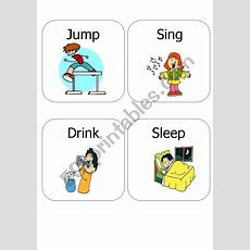 Kids Action Verbs 1  Esl Worksheet By Ariangie