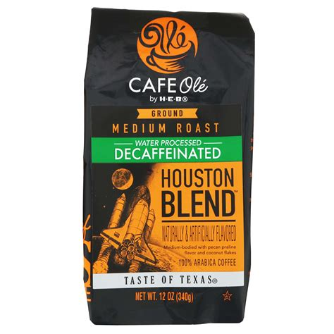 2,000 calories a day is used for general nutrition advice. H-E-B Cafe Ole Houston Blend Decaf Medium Roast Ground ...