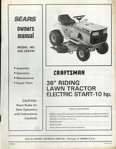 Factory Craftsman 502 255791 36 U0026quot  Riding Mower Tractor