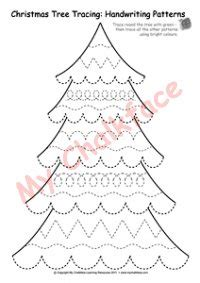 traceable christmas tree fir tree tracing handwriting patterns litera 163 0 10 mychalkface for