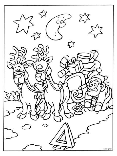 1224 x 1294 jpg pixel. Kleurplaat Arrenslee met pech? | Kerstmis kleurplaten ...