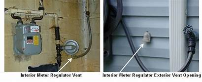 Gas Meters Frozen Safety Regulator Outside Vented