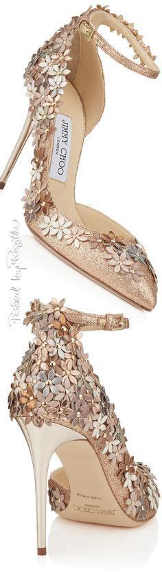 jimmy choo heels with pretty flowers shiny and gorgeous shoes flowers heels wedding