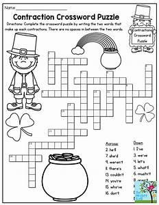 Contraction Crossword Puzzle