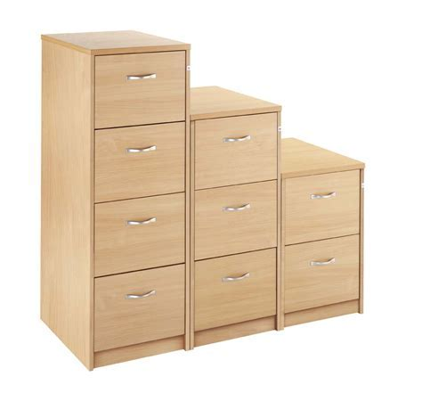 Executive Wooden 2 Drawer Filing Cabinet