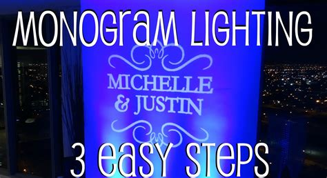 Gobo Lighting by Diy Gobo Monogram Lighting In 3 Easy Steps Youtube