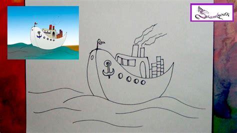 Barco De Vapor Dibujo by Como Dibujar Un Barco De Vapor Tutorial Dibujo F 225 Cil Para