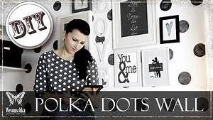 diy polka dots wand in vintage look ohne tapete black With markise balkon mit tapete mit punkten