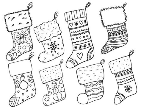 Free Christmas Stocking Coloring Page