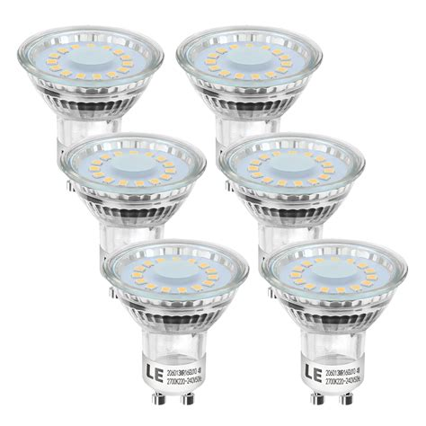 led spot le 6er 4w led spot gu10 mr16 leuchtmittel 50w halogen