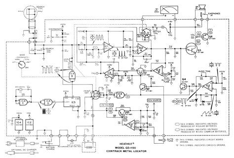 heathkit cointrack gd 1190 metal detector schematic diagram