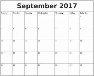 September 2017 Word Calendar