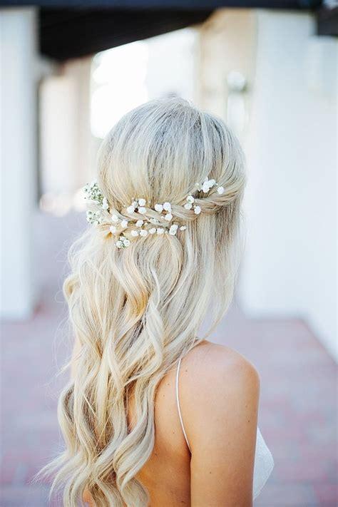 wavy bridal hair ideas  pinterest wavy