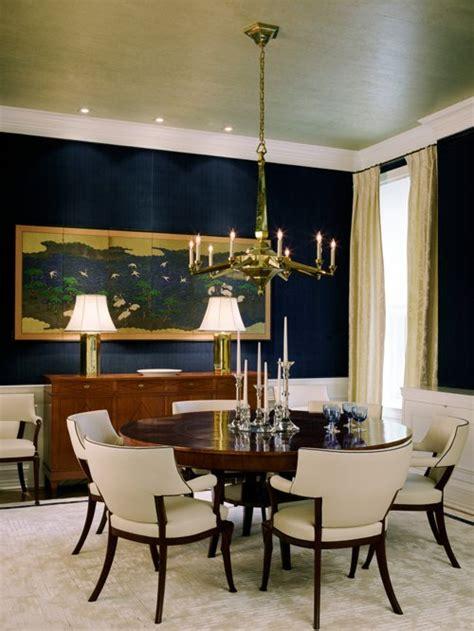 navy dining room design ideas remodels   blue