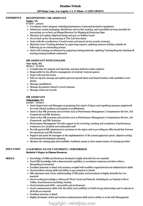 Chronological Resume Human Resources by Free Human Resources Assistant Resume Hr Assistant Resume