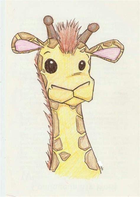 cute giraffe easy drawings pinterest giraffe