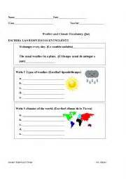 worksheets weather and climate quiz 6th 8th grade
