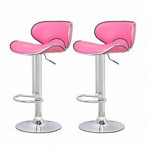 Tabouret De Bar Rose : tabouret de bar rose x2 elite tabouret de bar topkoo ~ Teatrodelosmanantiales.com Idées de Décoration