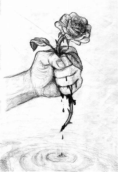Sad Drawing Sketch Emotional Meaningful Drawings Pencil