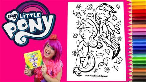 coloring   pony rainbow dash applejack coloring book page colored pencil kimmi