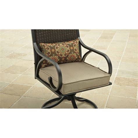 3 bistro set swivel rocker chairs with cushions