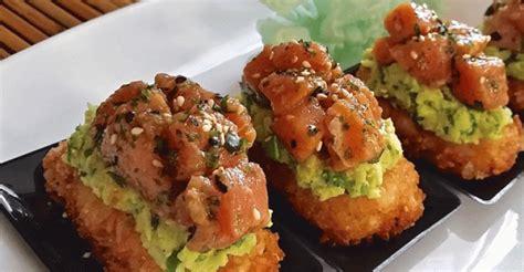 hoke poke crispy rice miso guacamole restaurant hospitality