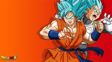 Goku and Vegeta (Super Saiyan God, DBS) 4K UHD 16:9