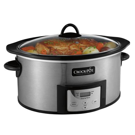 pot crock cooker slow cooking quart qt safe stovetop kitchen crockpot programmable browning stove countdown essentials cookers pots stoneware po