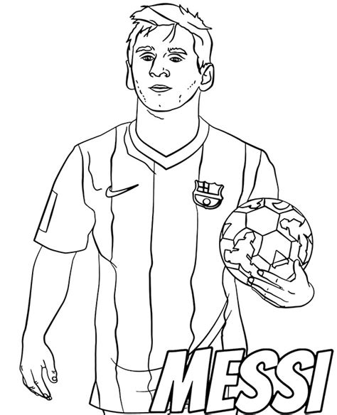 Lionel Messi Free Colouring Pages