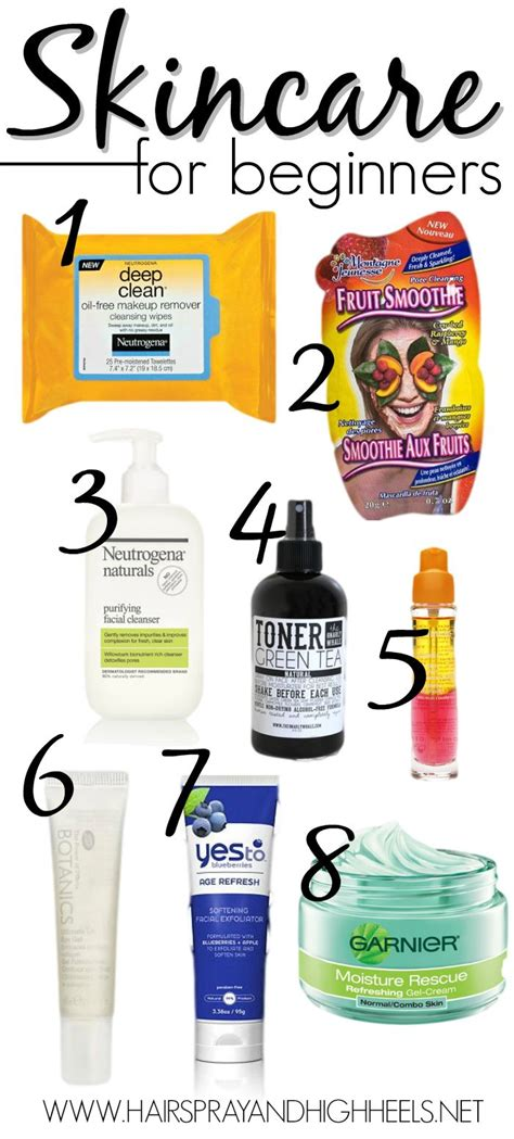 skincare  beginners  list  products