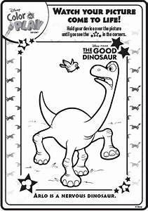 the good dinosaur disney coloring sheets sketch coloring page With the colorplay
