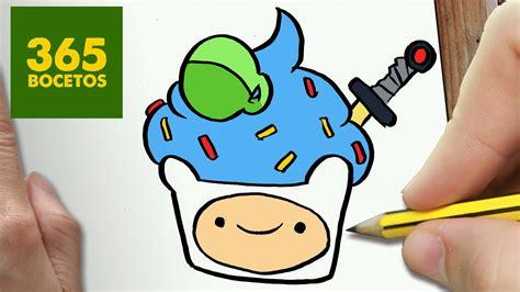 como dibujar finn cupcake kawaii paso a paso dibujos kawaii faciles how to draw a finn cupcake