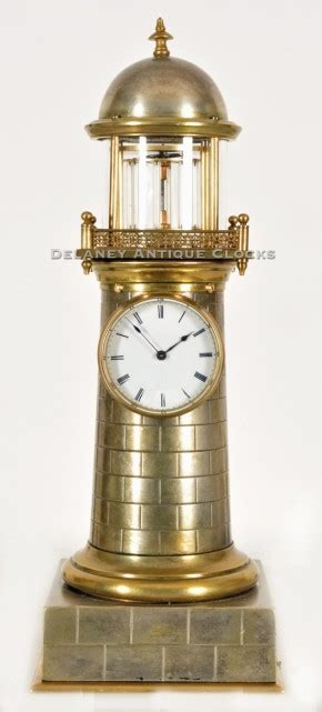 lighthouse clock   french industrial series