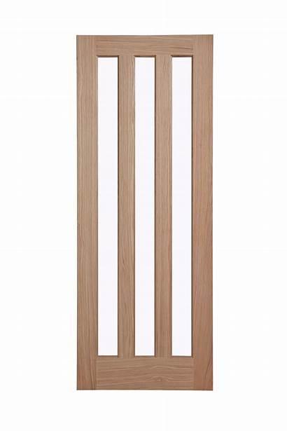 Internal Oak Door Panel Veneer Vertical Glazed
