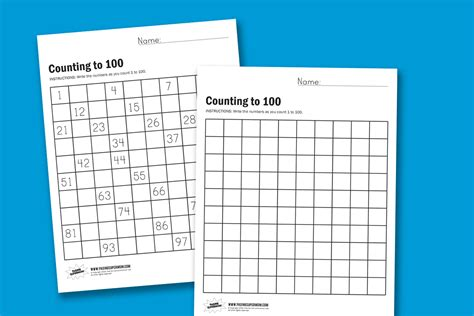 new counting to 100 worksheet goodsnyc