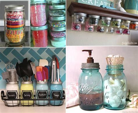 clever ways  organize  mason jars