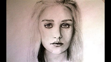 Pencil Portrait Drawing Of Game Of Thrones