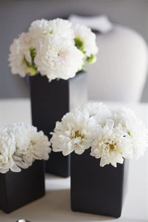 black and white floral centerpieces 26 timeless black and white party ideas shelterness
