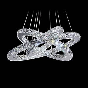 White chandeliers ring led k crystal lustre home