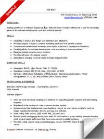 resume objective for entry level civil engineer resume objective exles software engineer application letter for job from newspaper how to