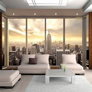 vlies fototapete tapeten xxl wandbilder tapete new york With balkon teppich mit 3d tapete new york