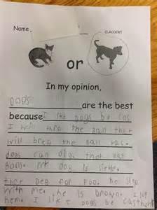 Kindergarten Opinion Writing