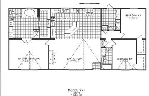 3 Bedroom Wide Floor Plans by 3 Bedroom Floor Plan C 9911 Hawks Homes Manufactured