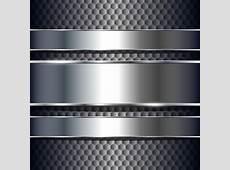 Sparkling Metal background design elements vector 03