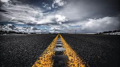 Road Asphalt Horizon Marking 4k Background Uhd
