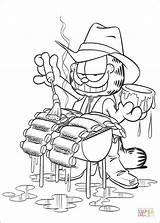 Garfield Coloring Grill Coloriage Colorir Desenhos Dibujos Churrasco Colorear Desenho Ausmalbilder Disegni Pintar Kolorowanki Parrilla Colorare Dibujo Imprimir Fazendo Amigos sketch template